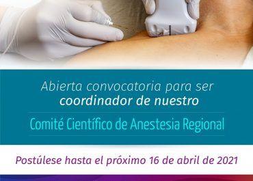 Conviértase en el coordinador de nuestro Comité Científico de Anestesia Regional