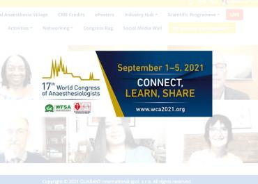 Anestesiólogos de 130 países se reúnen virtualmente en el Congreso Mundial de Anestesia