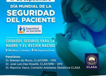 SCARE y CLASA conmemorarán día mundial de la seguridad del paciente con actividades para el talento humano en salud
