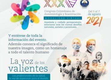 Lista página oficial del Congreso Colombiano de Anestesiología 2021