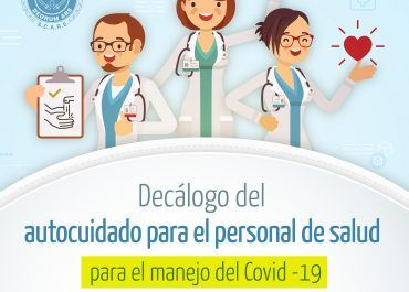 Decálogo de autocuidado para talento humano en salud frente al COVID19
