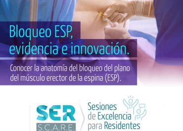 «Bloqueo ESP» inscríbase a la sesión académica para residentes de anestesiología